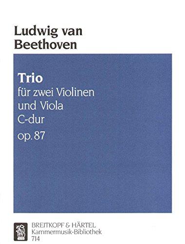 Preisvergleich Produktbild Trio C-dur op. 87 - Ausgabe für 2 Violinen, Viola (KM 714)