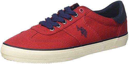 U.S.POLO ASSN. Herren TED Sneaker, Rot RED, 43 EU