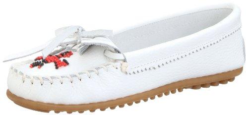 Minnetonka Echte Stiefel (Minnetonka Damen Thunderbird II Mokassin Weiß (White 4) 40 EU)