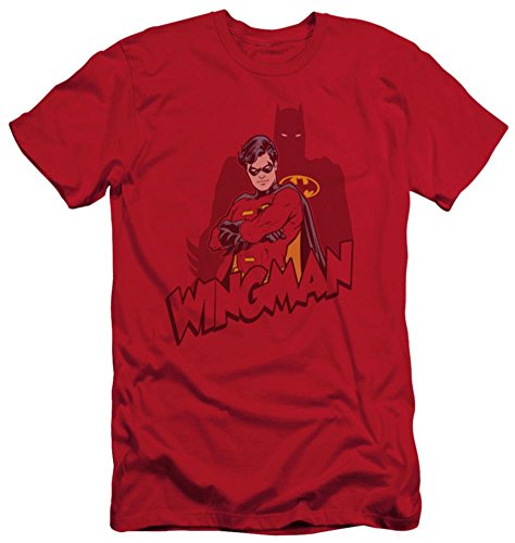 Batman Wingman Baumwolle T-Shirt Rot Erwachsene Damen Herren Kurze Ärmel T-Shirt, Herren, rot, Large