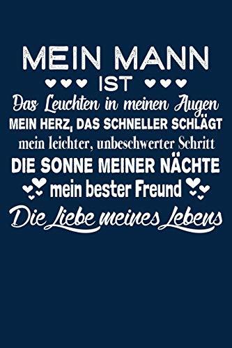 Liebe meines Lebens: Notizbuch / Notizheft für Ehemann Verlobte Hochzeit-stag Jahrestag A5 (6x9in) liniert mit Linien