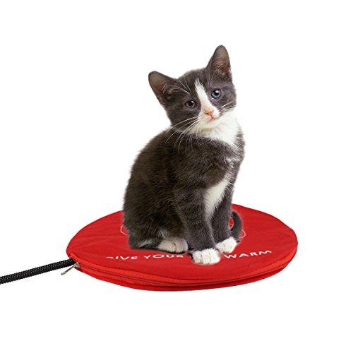 Namsan-Wärmer Beheizte Pet Mat - Low Voltage Sicherheit Indoor Hund Katze Haustier-Bett-Elektroheizung Decke mit kostenlosen Abdeckung für Pet 11,9 * 11,9 Zoll, Rot -