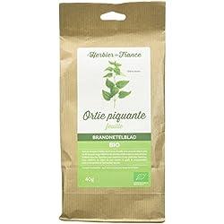 L'Herbier de France Ortie Piquante Feuilles Bio Sachet Kraft 40 g - Lot de 3