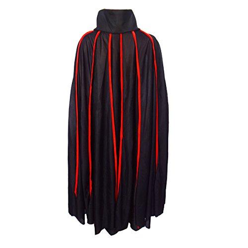 Gardeningwill Deluxe Schutzschale Schwarz Kleid Vampire Demon 106,7cm Ultra Breite Umhang für Halloween Party