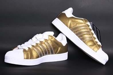 Adidas SUPERSTAR 2 IS SCHUHE Retro Sneaker (012176) gold (mt gold / mt gold / wht) Gr. 43