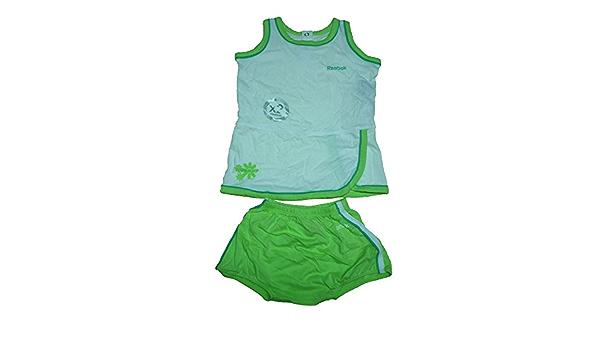Beach Short Set Baby Gr.80 grün weiß Sommerset von ReebokT-Shirt+Hose Baumwolle