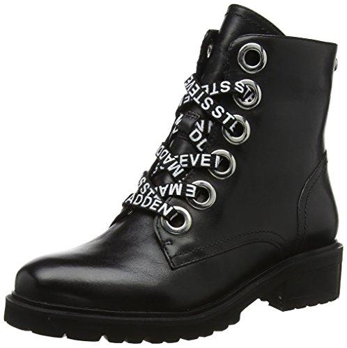 Steve Madden Damen Lindia Ankleboot Stiefeletten Schwarz (Black Leather  017) 37 EU 4bd996cc639