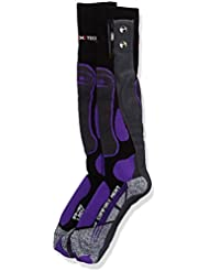 therm-ic - Calcetines con calentador para mujeres Schwarz/Anthrazit/Violett Talla:35-36