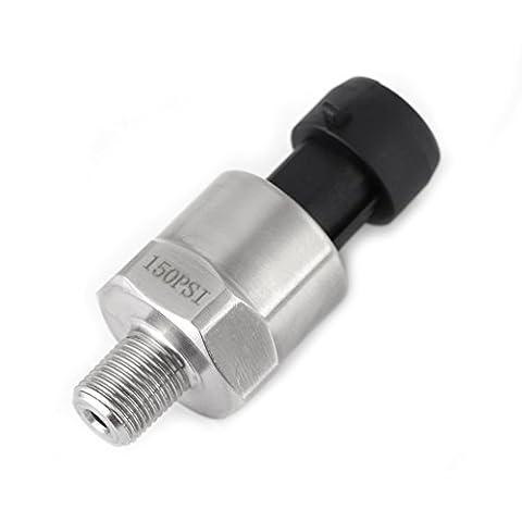 Transducteur Capteur de Pression en Acier Inoxydable pour Huile Diesel Gaz Eau Air Carburant 1/8