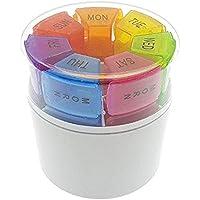 Weekly Tragbare Pille Aufbewahrungsbox Tablet Spender Medizin Halter rund Zylinder Container 7Tage Tägliche Woche... preisvergleich bei billige-tabletten.eu