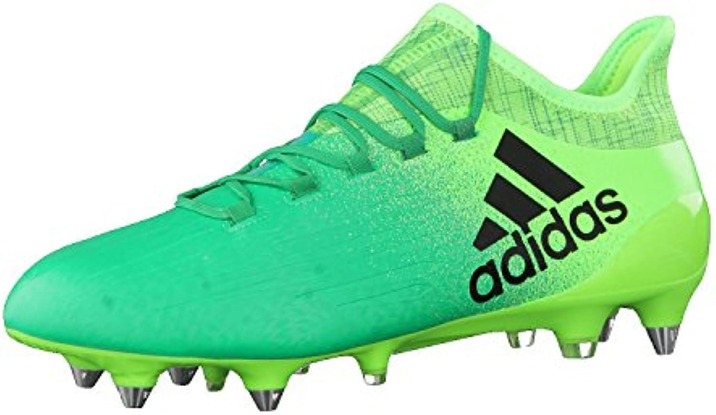 Adidas X 16.1 SG, para los Zapatos de Entrenamiento de Fútbol para Hombre, Verde (Versol/Negbas/Verbas), 47 EU