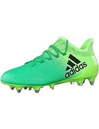 Adidas X 16.1 Sg, para los Zapatos de Entrenamiento de Fútbol para Hombre, Verde (Versol/Negbas/Verbas), 46 EU