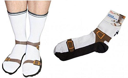 Sandalen Socken - Jesuslatschen Strümpfe Opa im Paar