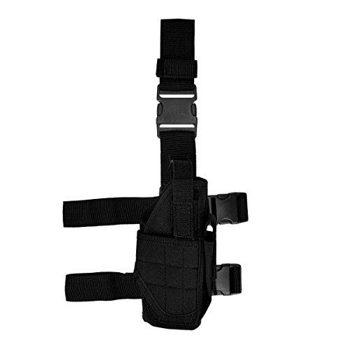 kwmobile Pistolenbeinholster rechts Tiefzieholster mit Bein- und Gürtelbefestigung in Schwarz
