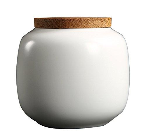 Geringes Gewicht Handarbeit Keramik Denkmal Urne Für Haustiere Feuerbestattung Box und Bambus Abdeckung Für Einzigartig Kätzchen / Papagei / Nerz / Hamster (Urnen Gravierte Pet)