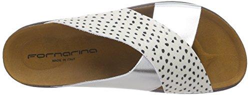 Fornarina Rea, Sandales ouvertes femme Multicolore - Mehrfarbig (Silver Black 200)