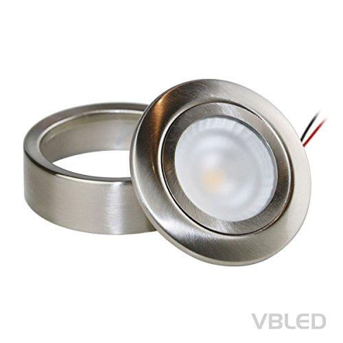 Trafo LED Einbau-Aufbau-Unterbau-Spot 2W Schrank Vitrine 12V CHICO 1-5 SET inkl