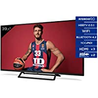TD Systems - Televisor K40DLX11FS, Smart TV 40 Pulgadas, Android 9.0 y HBBTV, 1100 PCI Hz, 3X HDMI, 2X USB. DVB-T2/C/S2, Modo Hotel, Negro