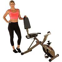 Preisvergleich für Exerpeutic GOLD 525XLR Klappbarer Liege-Heimtrainer/ Recumbent Bike mit 181kg maximalem Benutzergewicht