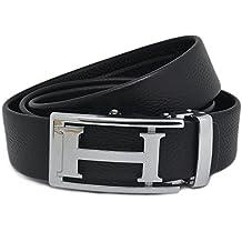 f191f5a4dfea ipuis Ceinture Cuir Homme noir avec boucle ceinture cuir automatique (120cm)