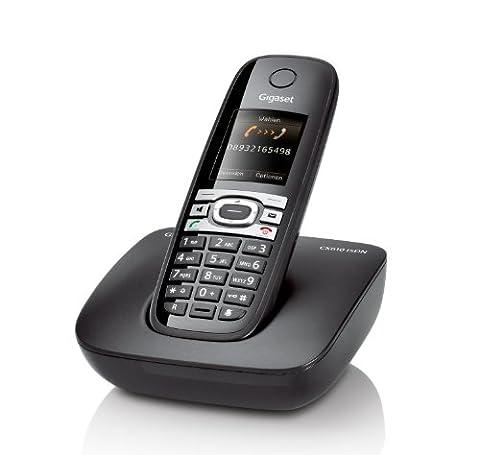 Gigaset CX610 ISDN Dect-Schnurlostelefon, Babyphonefunktion, schwarz