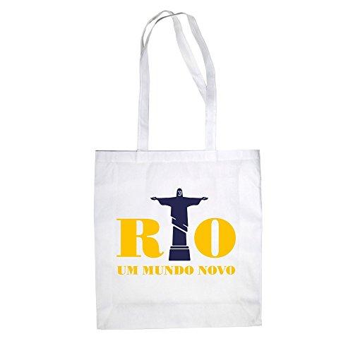 Borsa Di Juta - Rio - Around Mundo Novo - Un Nuovo Mondo - Dal Reparto Camicia Bianco-giallo
