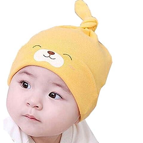 FEITONG Neu Kind Baby Neugeborene Schlaf Hut Mütze Kappe Kit Objektiv Baumwollkappe (Gelb) (Mädchen Bad-accessoires)