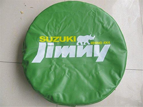 Bestmay 35,6cm Spare Wheel Tire Cover für S Uzuki G Rand V itara mit Logo Jimny grün