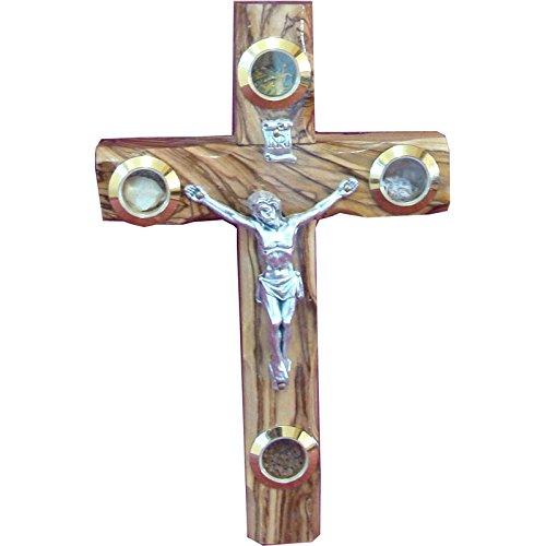 16cm-wall-catholic-cross-olive-wood-christian-gift-metal-crucifix-ow-crs-044