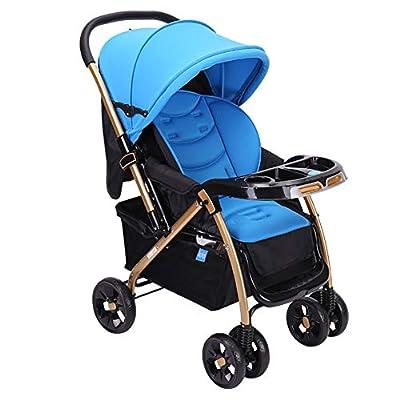Strollers NAUY @ Cochecito de bebé Puede Estar Tumbado Multi-Funcional de luz Cochecito de Alta Paisaje de los niños del bebé de Dos vías de la Compra (Azul) Sillas de Paseo