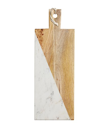 Master Class Marmor, Mangoholz, rechteckig, mit Paddel
