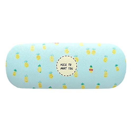 E-Bestar E-Bestar Brillenetui Obst-Bilder Vintage Brillenetui Brille Case Brillekasten Brillenbox Vintage (Ananas)