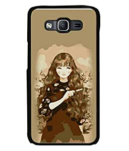 PrintVisa Designer Back Case Cover for Samsung Galaxy On7 G600Fy :: Samsung Galaxy Wide G600S :: Samsung Galaxy On 7 (2015) (Illustration Girl Black Hair Wallpaper Background)