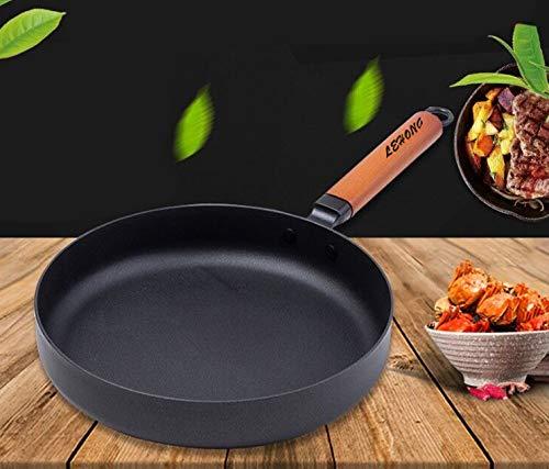 Lehong padelle da chef padella antiaderente padella in ferro, diametro 26 * 5 cm