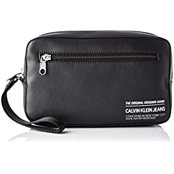 Calvin Klein FEATHER WEIGHT WASH POUCHHombreShoppers y bolsos de hombroNegro (Black) 3.5x17x23.5 centimeters (B x H x T)