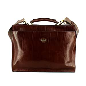 The Bridge Briefcase 06434901-14 Brown