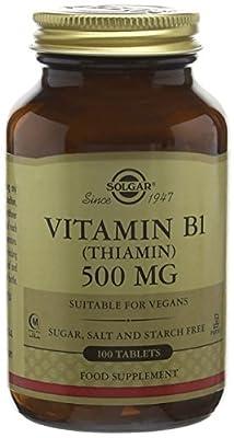 Solgar Vitamin B1 500 mg Tablets (Thiamin) - 100 tablets by Solgar