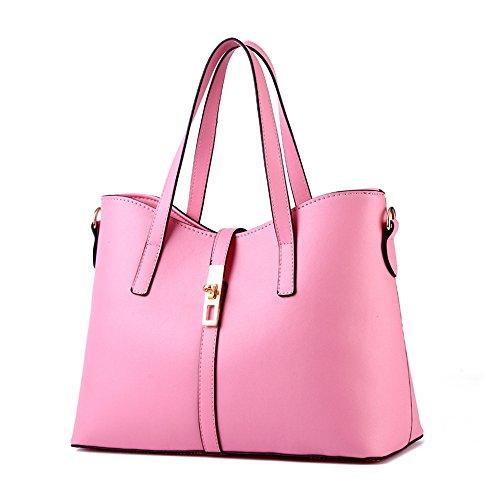 Myleas Donna Borsa a Tracolla Borsetta Shopper Borse con Cinturino Rosa Navegar En Línea Barato N2rbjin