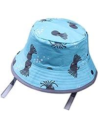 a7baa32a5a669 Niño del Bebé del Algodón del Sombrero del Cubo Pulpo Verano De La  Impresión del Sombrero De Sun para Niños…