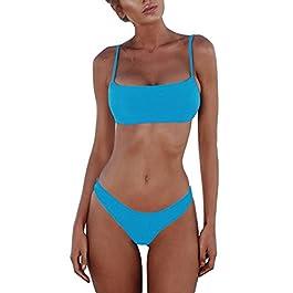 Costume da Bagno Donna Due Pezzi Costumi da Mare Swimwear Push Up Bikini Sexy da Donna