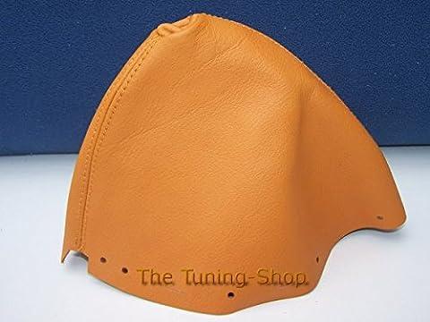 Pour Nissan 350Z 2002–2009Soufflet de levier Cuir véritable Orange