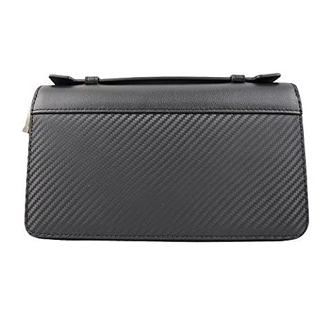 DJ-16008 parfait portefeuille noir avec fermeture éclair d