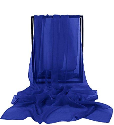 Dresstells Chiffon Schal Stola für Abendkleider in verschiedenen Farben Royal Blue 190cmX70cm