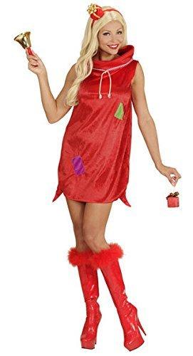 LADIES SEXY RED CHRISTMAS SACK GIRL FANCY DRESS (Womens Dress Kostüme Fancy Christmas)