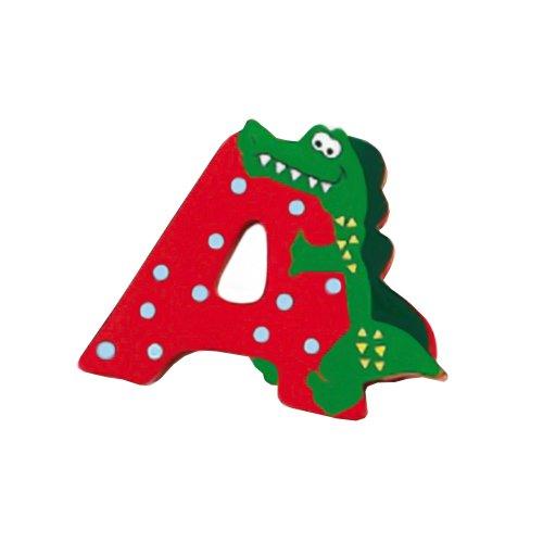 Lettera decorativa per nomi bambini nella stanzetta con animali lettera A