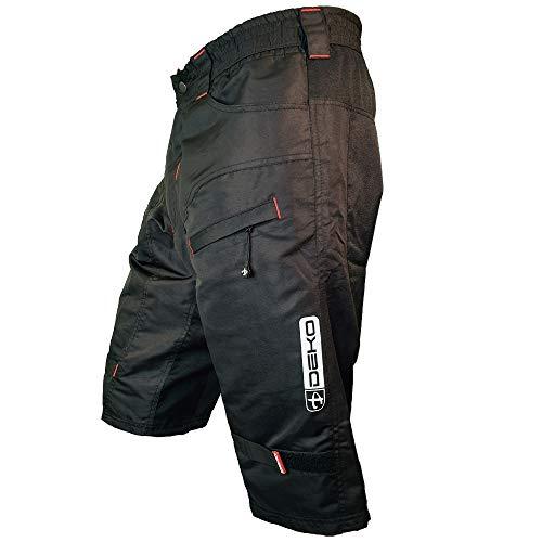 DEKO pantalones cortos de ciclismo para hombres negros para el camping MTB y todas las demás actividades