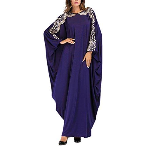 Zhuhaitf Elegante übergroße Boho Stil Türkische Kaftans Kaftan Kleid Abaya für Frauen Islamische...