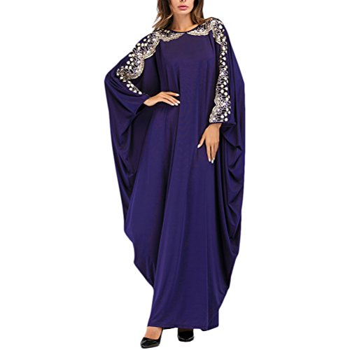 Zhhlaixing Estilo Multi Manga de Batwing Vestidos Largo Long Kaftan Caftans para Mujeres Musulmán Dubai Arabia Saudita Marroquí Malasio