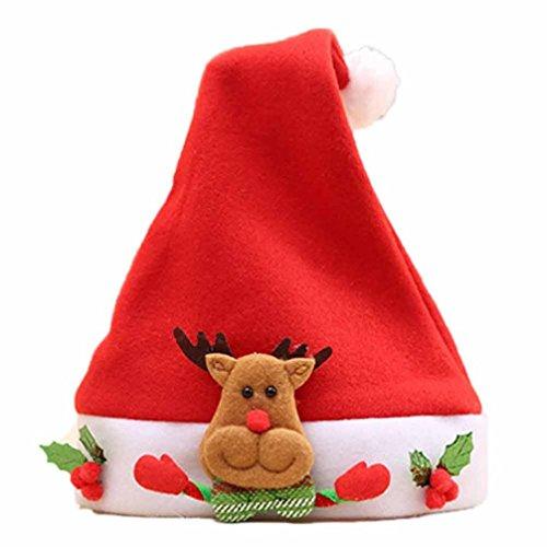 e Red Hat Cosy Soft Warm Kinder Santa Kopfbedeckungen (A) (Vlies Nikolausmütze)