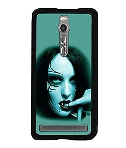 printtech Vampire Girl Blood Back Case Cover for Asus Zenfone 2 , Asus Znfone 2 ZE550ML